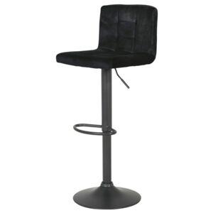 Sconto Barová židle AMANDA černá, samet