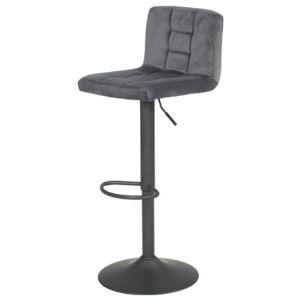 Sconto Barová židle AMANDA šedá, samet