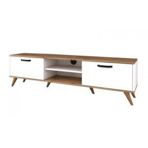 Sconto TV stolek AVA bílá/ořech