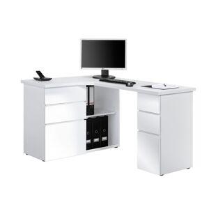 Sconto Rohový psací stůl BAKER bílá