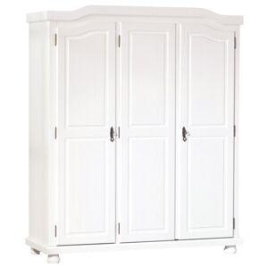 Sconto Šatní skříň BERNIAN bílá, 3-dveřová