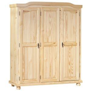 Sconto Šatní skříň BERNIAN borovice, 3-dveřová