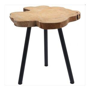 Sconto Odkládací stolek BERTINA černá/teak
