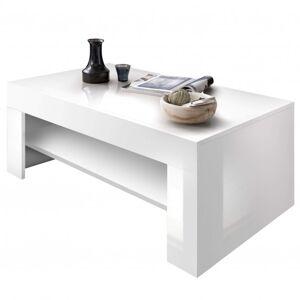 Sconto Konferenční stolek BOARD bílá vysoký lesk