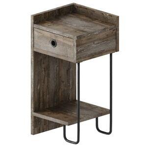Sconto Noční stolek CACTUS tmavě hnědá, pravé provedení
