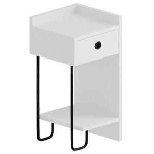 Sconto Noční stolek CACTUS bílá, levé provedení