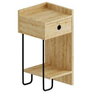 Sconto Noční stolek CACTUS dub, levé provedení