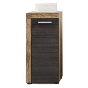 Sconto Koupelnová skříňka CANCUN/BOOM ořech/tmavě hnědá