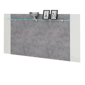 Sconto Nástěnný panel CANTERO bílá vysoký lesk/ beton