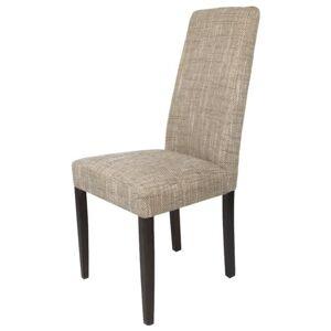 Sconto Jídelní židle CAPRICE cappucino/tmavě hnědá