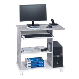 Sconto PC stůl CASH bílá/beton