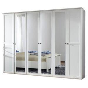 Sconto Šatní skříň CHASE bílá, 270 cm, 4 zrcadla