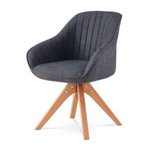Sconto Jídelní židle CHIP šedá látka/buk