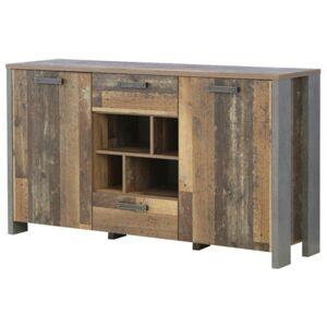 Sconto Komoda CLIF vintage wood/beton