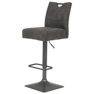 Sconto Barová židle DENISE H vintage antracit