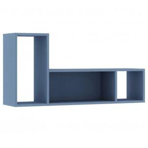 Sconto Nástěnný regál EMMET modrá