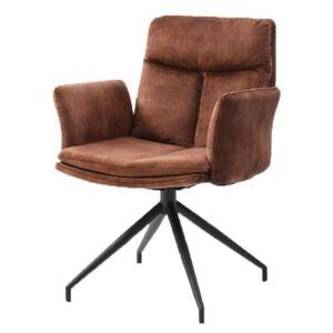 Sconto Jídelní židle ERIC hnědá/černá