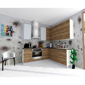 Sconto Rohová kuchyňská sestava FACHMAN B18, 217x217 cm dub alicante