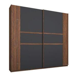 Sconto Šatní skříň GABRIELLE dub stirling/šedá, šířka 226 cm