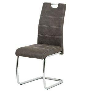 Sconto Jídelní židle GRAMA šedá/kov