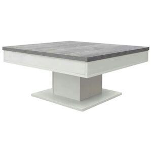 Sconto Konferenční stolek GRANNY bílá matná/beton