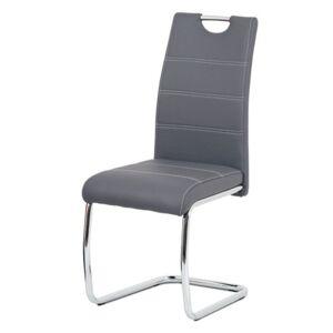 Sconto Jídelní židle GROTO šedá/stříbrná