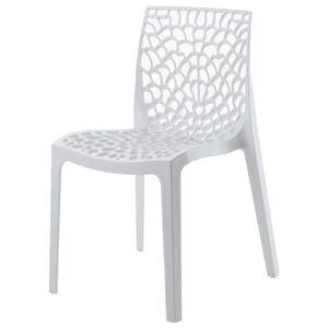 Sconto Jídelní židle GRUVYER bílá