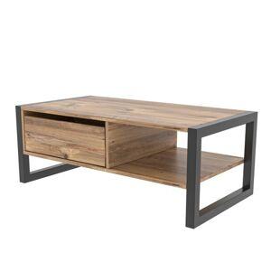 Sconto Konferenční stolek HALDIZEN černá/borovice