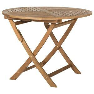 Sconto Kulatý skládací stolek HOLSTEIN eukalyptus
