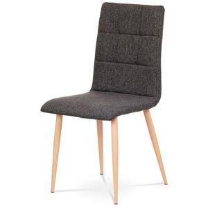 Sconto Jídelní židle IDA šedostříbrná/buk