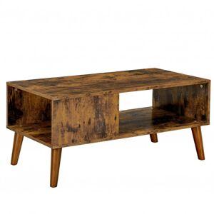 Sconto Konferenční stolek IMATRA černá/hnědá