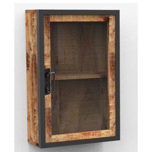 Sconto Závěsná skříňka IRON mangovník