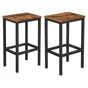 Sconto Barová židle KEMA II černá/hnědá, 2ks