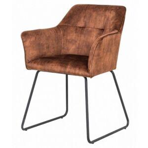 Sconto Jídelní židle KIPPER cognac/černá