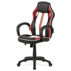Sconto Kancelářská židle LAWRENCE červená/černá/bílá