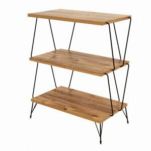 Sconto Přístavný stolek LAZANDO borovice/černá