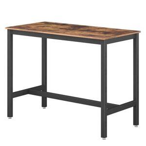Sconto Barový stůl LEKSA černá/hnědá