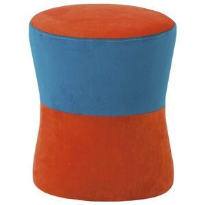 Sconto Taburet LION oranžovo-modrá