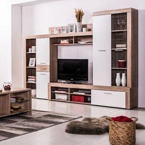 Sconto Obývací stěna LIZA dub sanremo/bílá