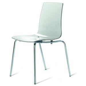 Sconto Jídelní židle LOLLIPOP průhledná