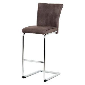 Sconto Barová židle LUISA hnědá
