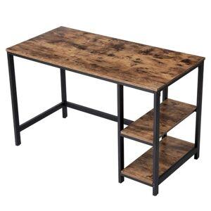 Sconto Psací stůl LWD47X černá/hnědá