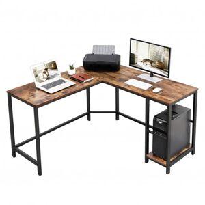 Sconto Rohový psací stůl MONA černá/hnědá