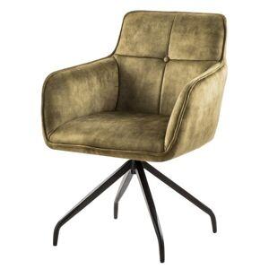 Sconto Jídelní židle MALAGA olivová/černá