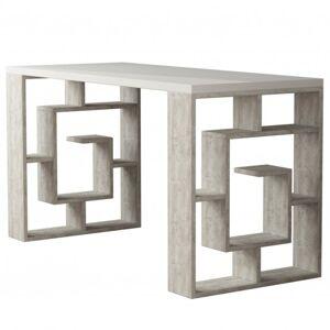 Sconto Psací stůl MAZE bílá/beton