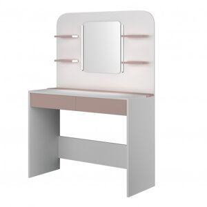 Sconto Toaletní stolek MISTERE starorůžová/bílá