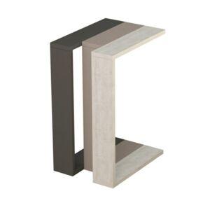 Sconto Přístavný stolek MUJU antracit/světlá mocha