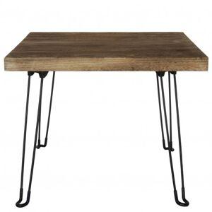 Sconto Přístavný stolek NABRO 2 pavlovnie/hnědá