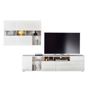 Sconto Obývací stěna NEW VISION 18 bílá/dub sonoma
