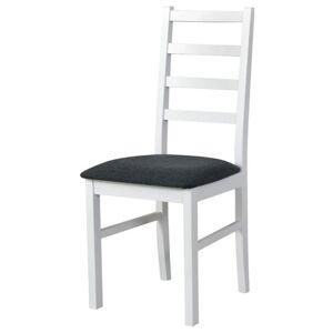 Sconto Jídelní židle NILA 8 tmavě šedá/bílá
